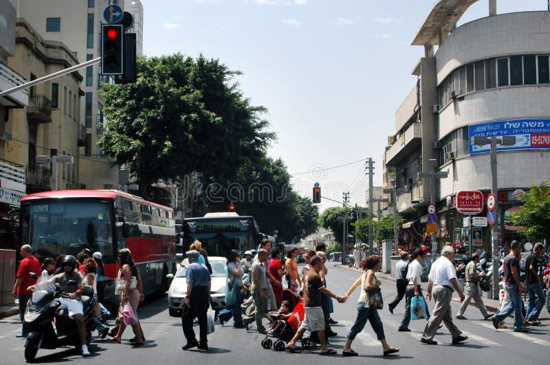 Τελ Αβίβ Ισραήλ - οδός Allenby στοκ φωτογραφία με δικαίωμα ελεύθερης χρήσης