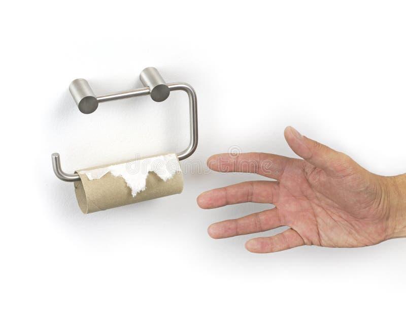 Τελειωμένο χαρτί τουαλέτας στοκ φωτογραφία με δικαίωμα ελεύθερης χρήσης