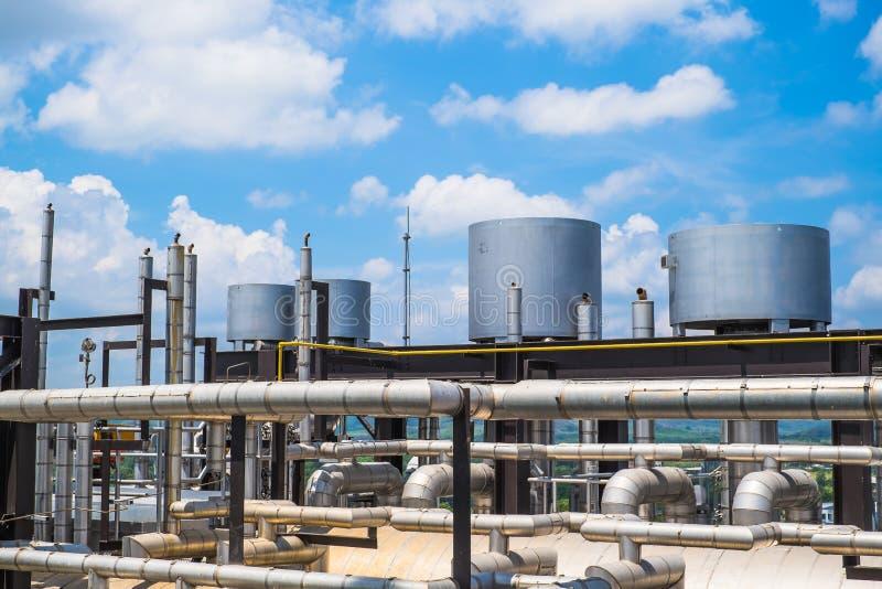 Τελευταίος όροφος του λέβητα στις εγκαταστάσεις παραγωγής ενέργειας αερίου καυσίμων στοκ εικόνα με δικαίωμα ελεύθερης χρήσης