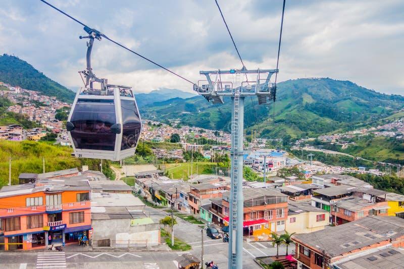 Τελεφερίκ στο Manizales, Κολομβία στοκ φωτογραφία