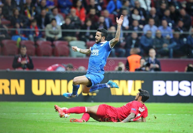 Τελικό ποδοσφαιρικό παιχνίδι Dnipro ένωσης UEFA Ευρώπη εναντίον της Σεβίλλης στοκ φωτογραφία με δικαίωμα ελεύθερης χρήσης