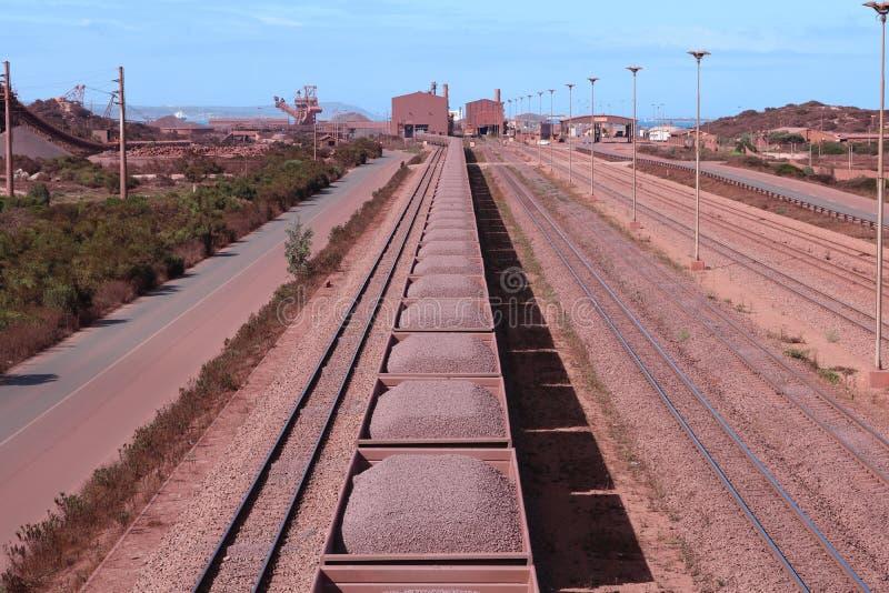 Τελικό, δυτικό ακρωτήριο σιδηρομεταλλεύματος Saldanha Sishen, Νότια Αφρική στοκ εικόνες