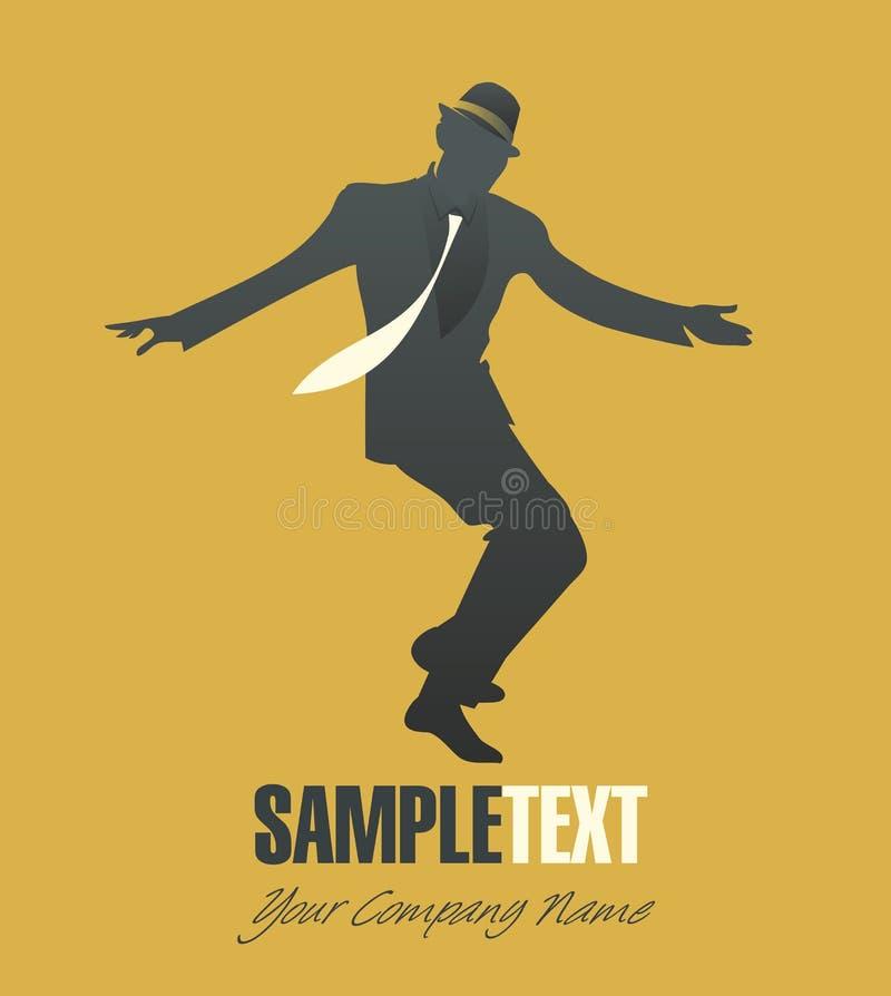 Τζαζ ή ταλάντευση χορού ατόμων ελεύθερη απεικόνιση δικαιώματος