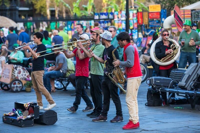 τζαζ Νέα Ορλεάνη ζωνών στοκ φωτογραφίες