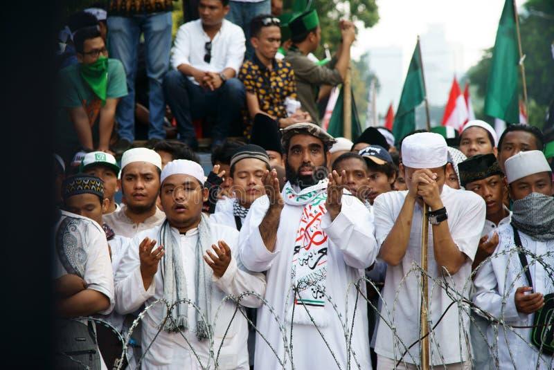Τζακάρτα 4η της επίδειξης Νοεμβρίου στοκ εικόνα με δικαίωμα ελεύθερης χρήσης