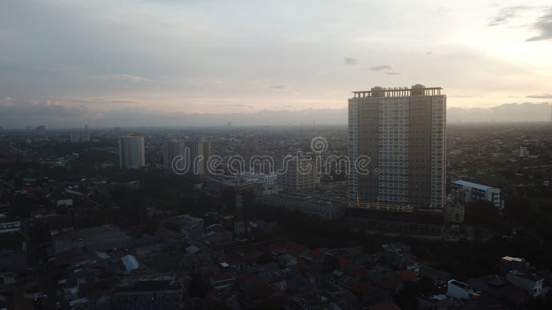 ΤΖΑΚΆΡΤΑ, Ινδονησία 28 Δεκ 2018: Αεροφωτογραφία της Κεντρικής Επιχειρηματικής Περιοχής Τζακάρτα από μη επανδρωμένο αεροσκάφος την στοκ εικόνα με δικαίωμα ελεύθερης χρήσης