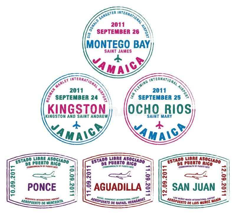 Τζαμάικα Πουέρτο Ρίκο απεικόνιση αποθεμάτων
