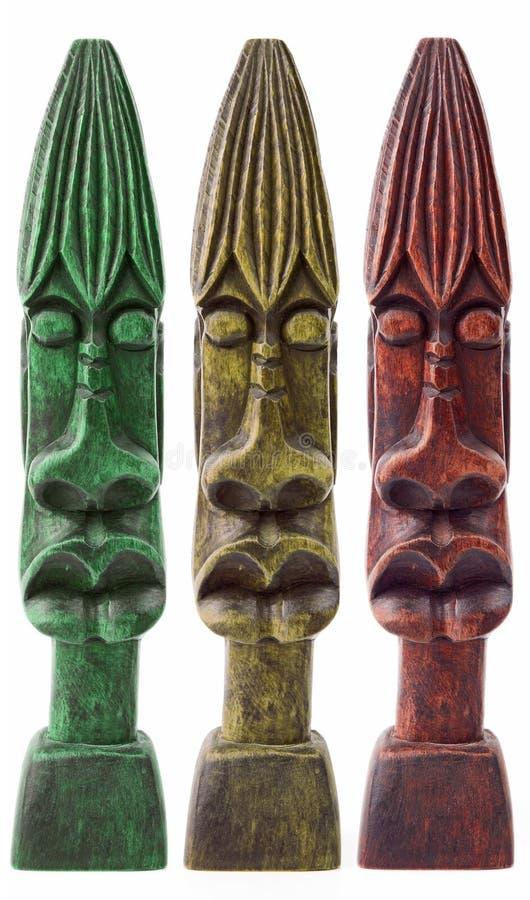 Τζαμαϊκανά ξύλινα αγάλματα στοκ φωτογραφία με δικαίωμα ελεύθερης χρήσης