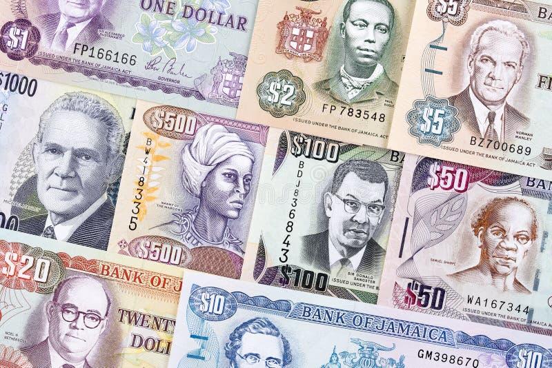 Τζαμαϊκανά χρήματα, ένα υπόβαθρο στοκ φωτογραφίες