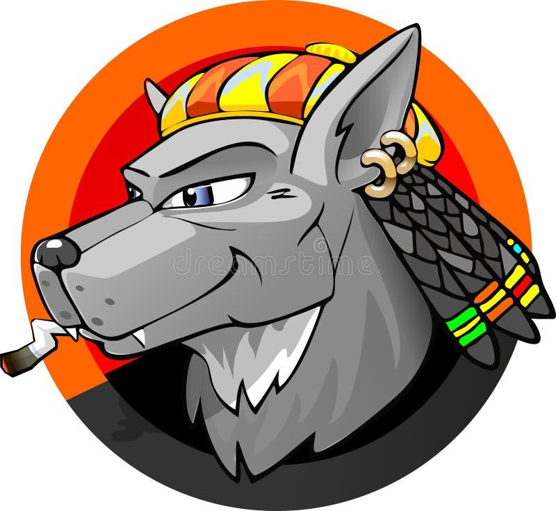 Τζαμαϊκανός λύκος διανυσματική απεικόνιση