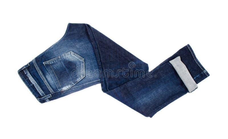 Τζιν παντελόνι που απομονώνεται στο λευκό στοκ εικόνες