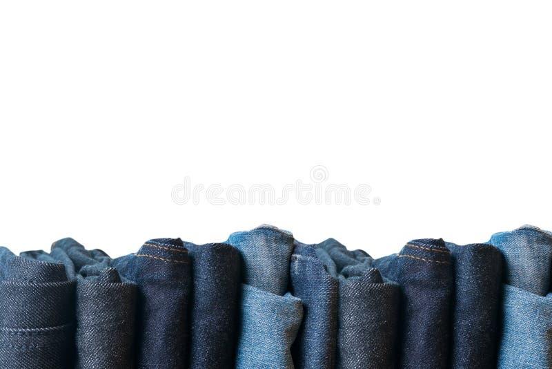 τζιν παντελόνι στην άσπρη συλλογή j υποβάθρου και τζιν τζιν παντελόνι στοκ φωτογραφίες με δικαίωμα ελεύθερης χρήσης
