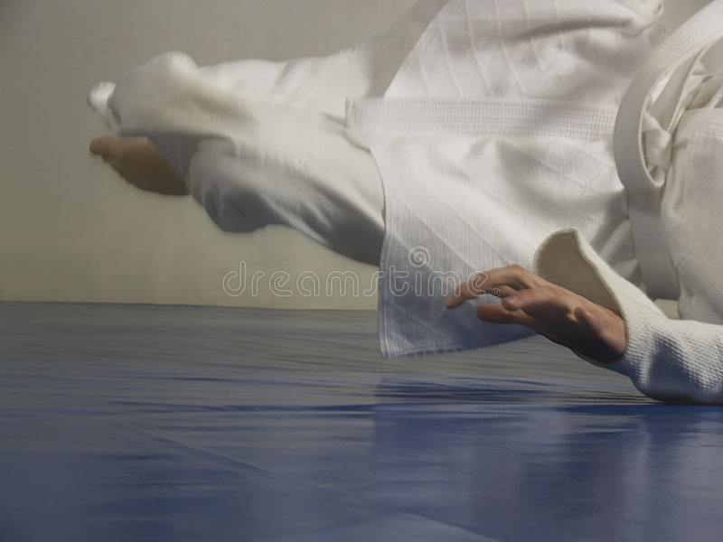τζούντο πτώσης στοκ εικόνα
