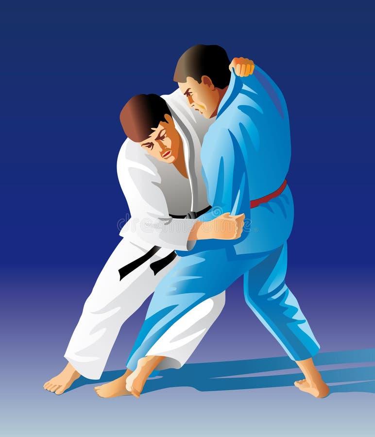 τζούντο διανυσματική απεικόνιση