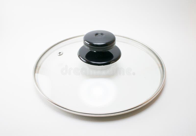 Τηγάνι κάλυψης γυαλιού που απομονώνεται στο άσπρο υπόβαθρο στοκ εικόνες με δικαίωμα ελεύθερης χρήσης