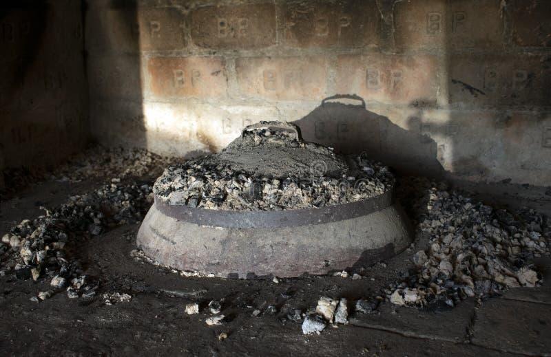 Τηγάνι σιδήρου - peka στοκ φωτογραφία με δικαίωμα ελεύθερης χρήσης