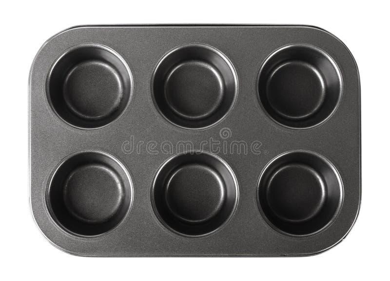 Τηγάνι ψησίματος για muffins, cupcake πιάτο ψησίματος στοκ εικόνα