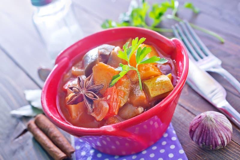 τηγανισμένα λαχανικά στοκ φωτογραφία