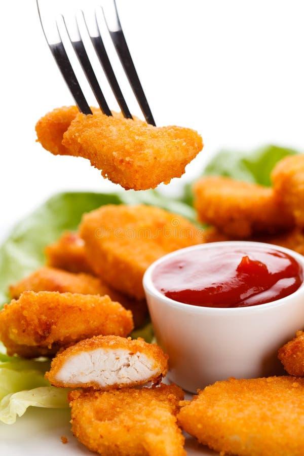 τηγανισμένα κοτόπουλο ψή&gam στοκ εικόνες με δικαίωμα ελεύθερης χρήσης