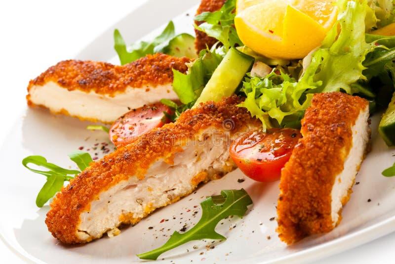 Τηγανισμένα κρέας και λαχανικά στοκ εικόνες με δικαίωμα ελεύθερης χρήσης