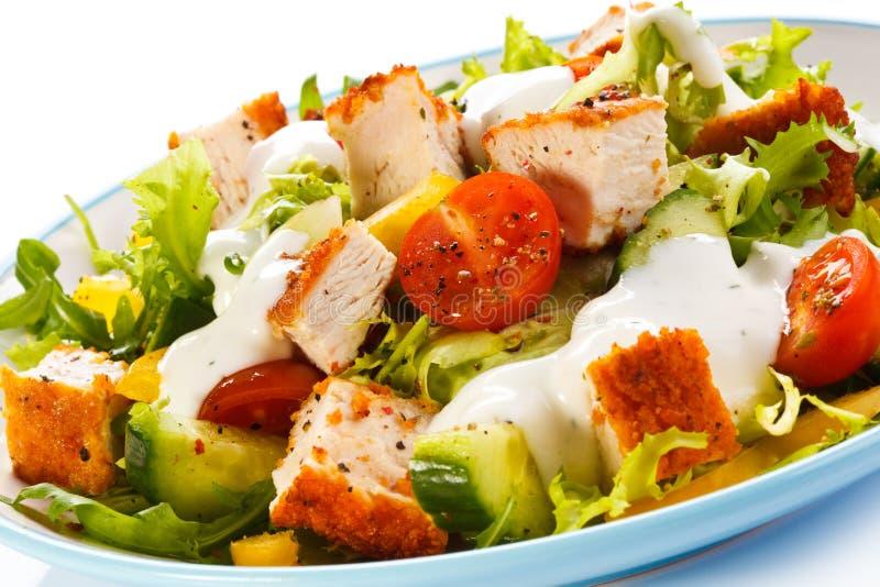 Τηγανισμένα κρέας και λαχανικά στοκ εικόνα