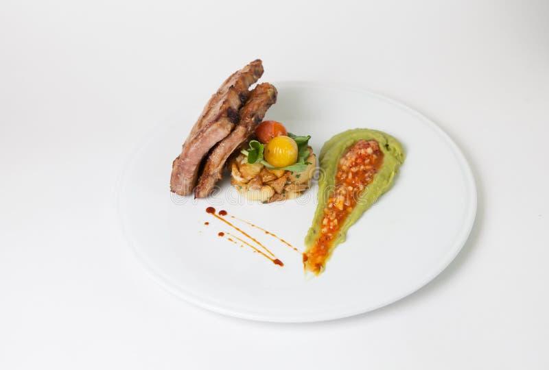 Τηγανισμένα πλευρά χοιρινού κρέατος στοκ φωτογραφίες