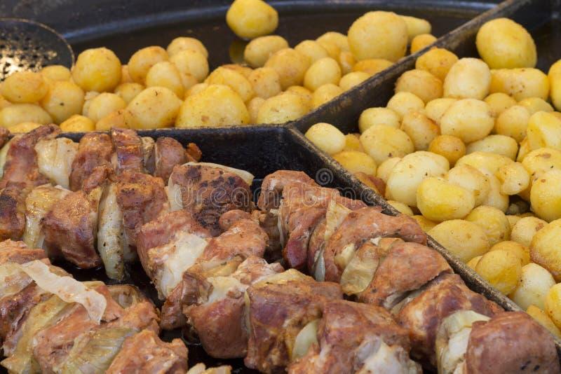 Τηγανισμένα τρόφιμα σε Jarmark ST Dominic στο Γντανσκ στοκ φωτογραφίες με δικαίωμα ελεύθερης χρήσης