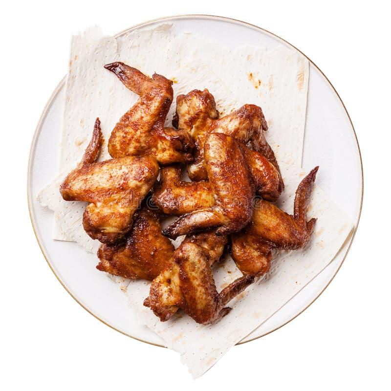 Τηγανισμένα φτερά κοτόπουλου στοκ εικόνες