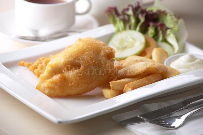 Τηγανισμένα ψάρια και τσιπ στοκ εικόνες με δικαίωμα ελεύθερης χρήσης