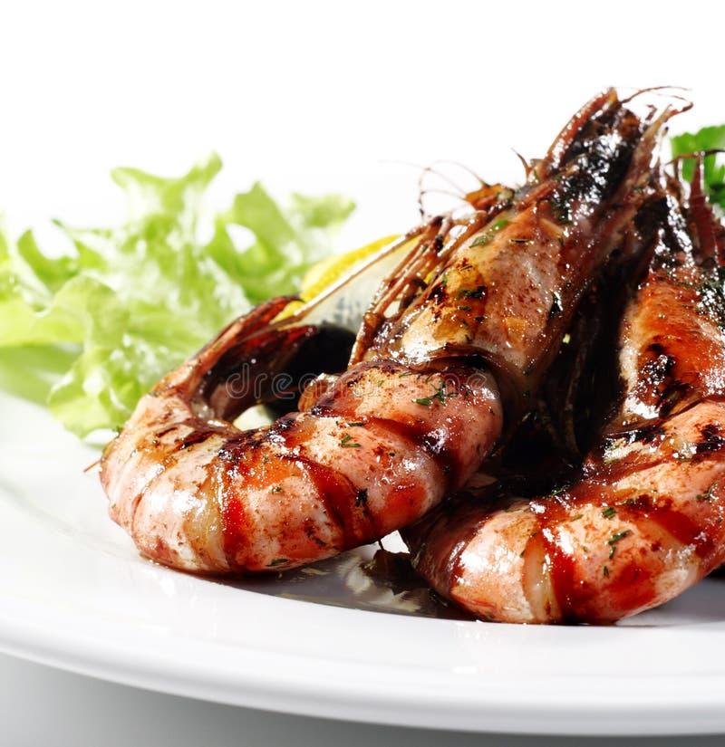 τηγανισμένες γαρίδες θαλασσινών στοκ φωτογραφία με δικαίωμα ελεύθερης χρήσης