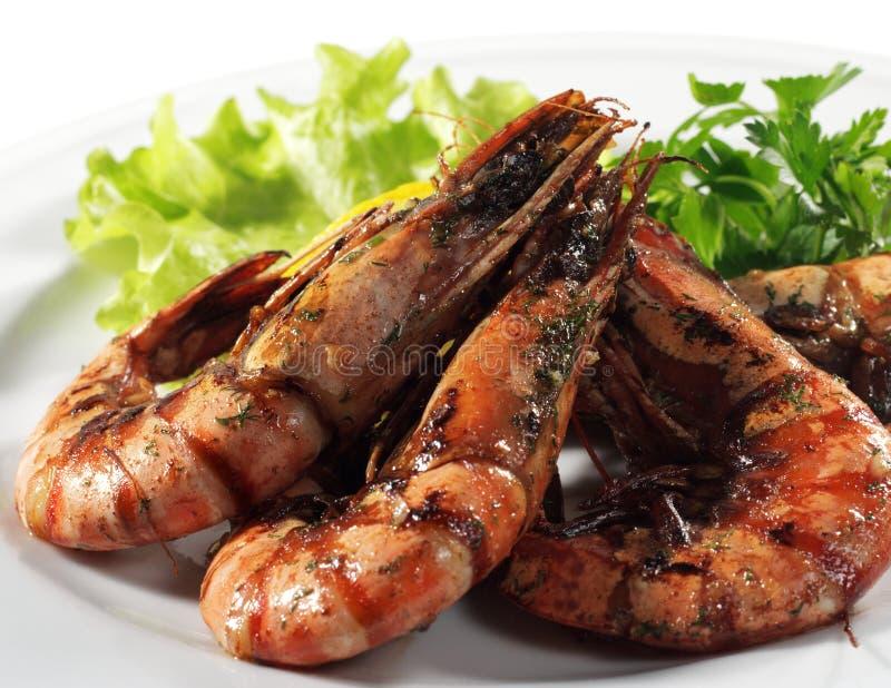 τηγανισμένες γαρίδες θαλασσινών στοκ φωτογραφία