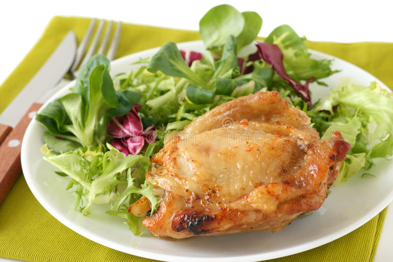 τηγανισμένη κοτόπουλο σ&alph στοκ εικόνα
