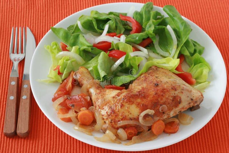 τηγανισμένη κοτόπουλο σ&alph στοκ φωτογραφίες