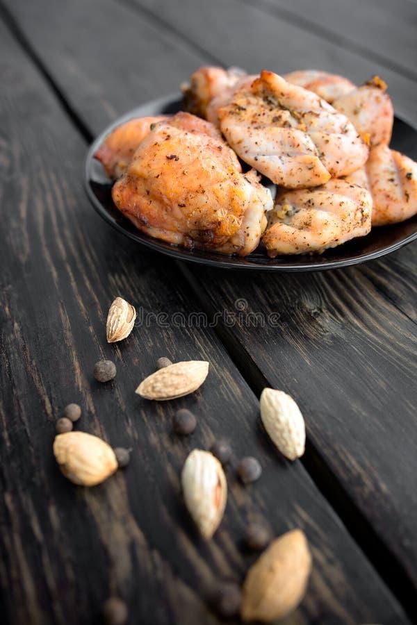 τηγανισμένη κοτόπουλο σχάρα στοκ φωτογραφίες