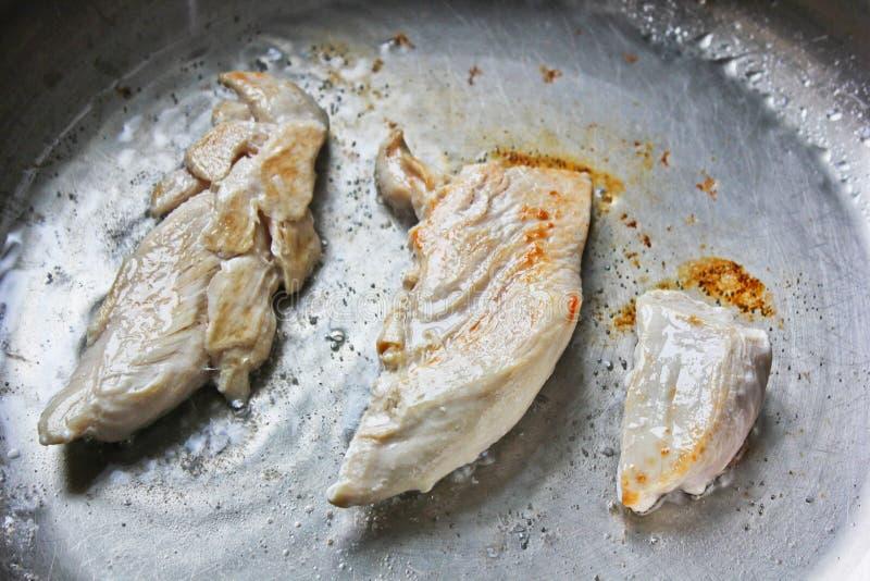τηγανισμένη πανοραμική λήψη Κοτόπουλο στοκ εικόνα με δικαίωμα ελεύθερης χρήσης