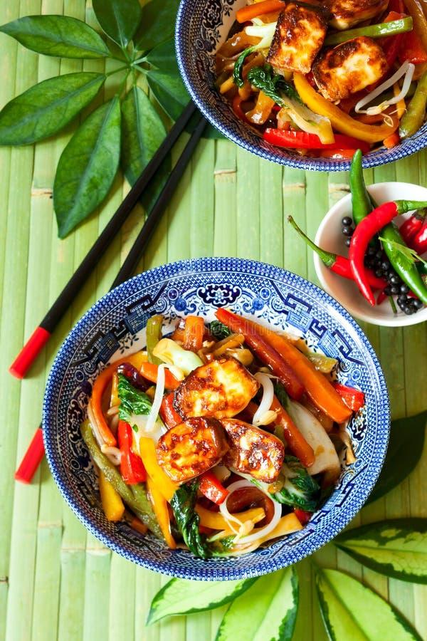 τηγανισμένος ανακατώστε τα λαχανικά στοκ φωτογραφίες με δικαίωμα ελεύθερης χρήσης