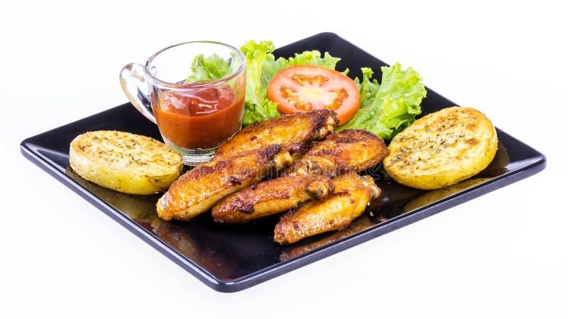 Τηγανισμένος με το φρέσκο λαχανικό στοκ εικόνες με δικαίωμα ελεύθερης χρήσης