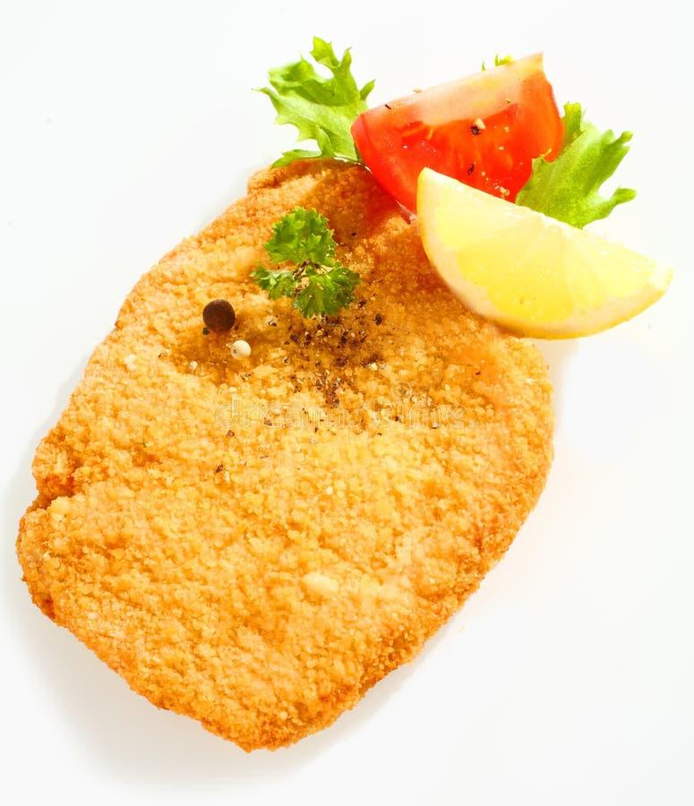 Τηγανισμένος escalope του μοσχαρίσιου κρέατος με το λεμόνι στοκ φωτογραφία με δικαίωμα ελεύθερης χρήσης