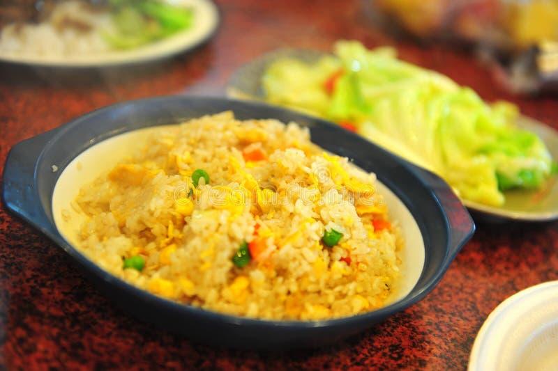 τηγανισμένο αυγό ρύζι Ταϊβανός στοκ φωτογραφίες