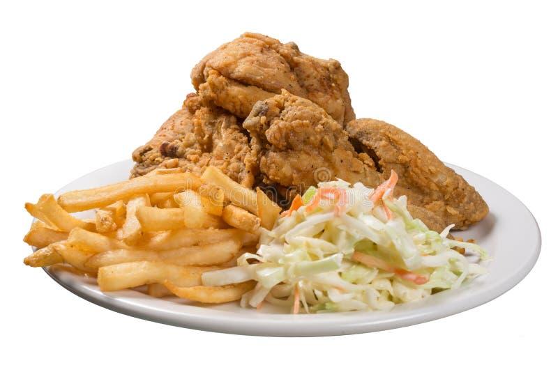 Τηγανισμένο γεύμα κοτόπουλου στοκ εικόνες