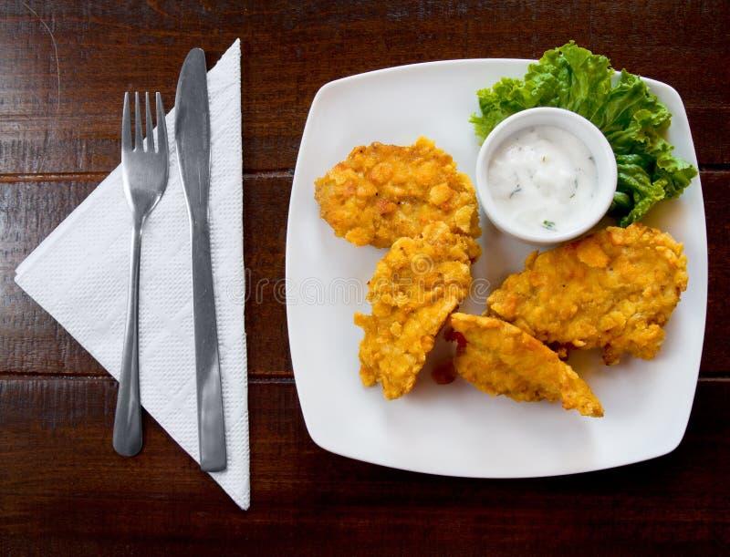 τηγανισμένο κοτόπουλο κ& στοκ φωτογραφίες με δικαίωμα ελεύθερης χρήσης