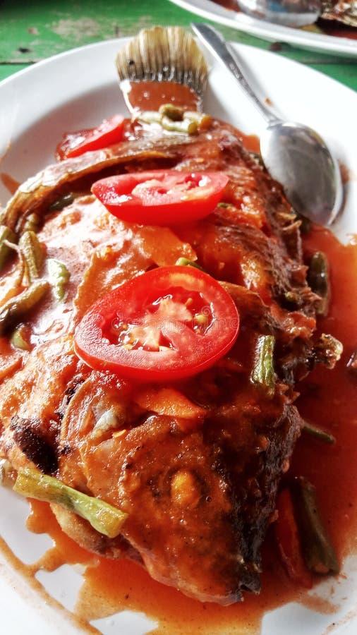 τηγανισμένο κοτόπουλο πό&de στοκ φωτογραφίες