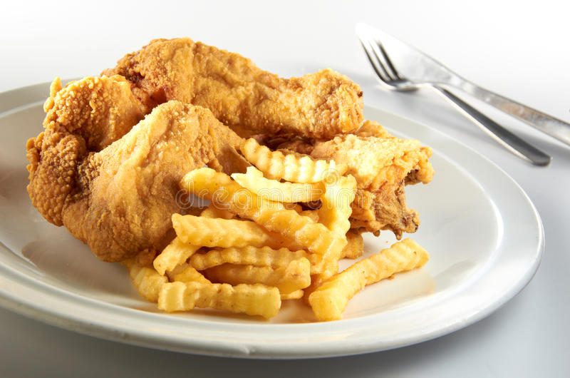 Τηγανισμένο κοτόπουλο στοκ φωτογραφία με δικαίωμα ελεύθερης χρήσης