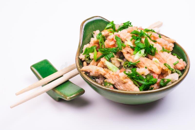 τηγανισμένο κοτόπουλο ρύ&z στοκ φωτογραφία με δικαίωμα ελεύθερης χρήσης