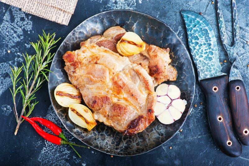τηγανισμένο κρέας στοκ εικόνα με δικαίωμα ελεύθερης χρήσης