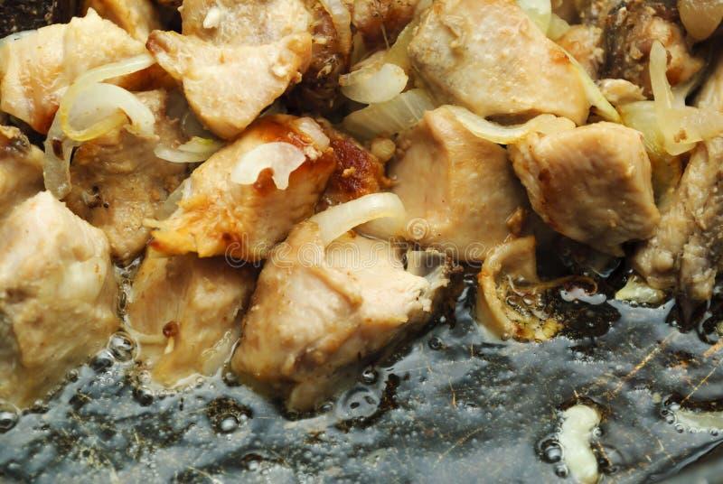 τηγανισμένο κρέας στοκ εικόνα