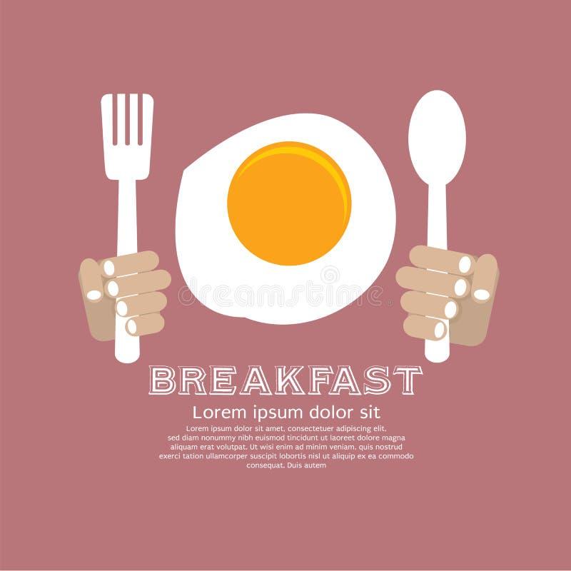 Τηγανισμένο πρόγευμα αυγών. διανυσματική απεικόνιση