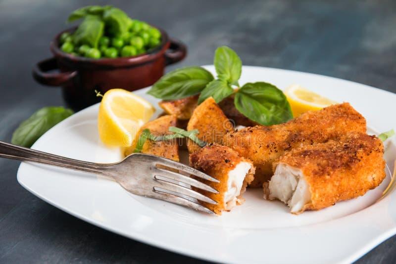 Τηγανισμένο ραβδί ψαριών στοκ εικόνα με δικαίωμα ελεύθερης χρήσης