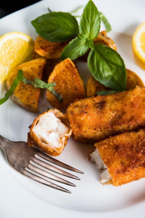 Τηγανισμένο ραβδί ψαριών στοκ φωτογραφίες με δικαίωμα ελεύθερης χρήσης