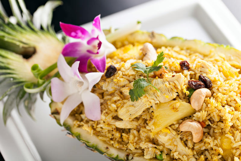 τηγανισμένο ρύζι ανανά στοκ εικόνες